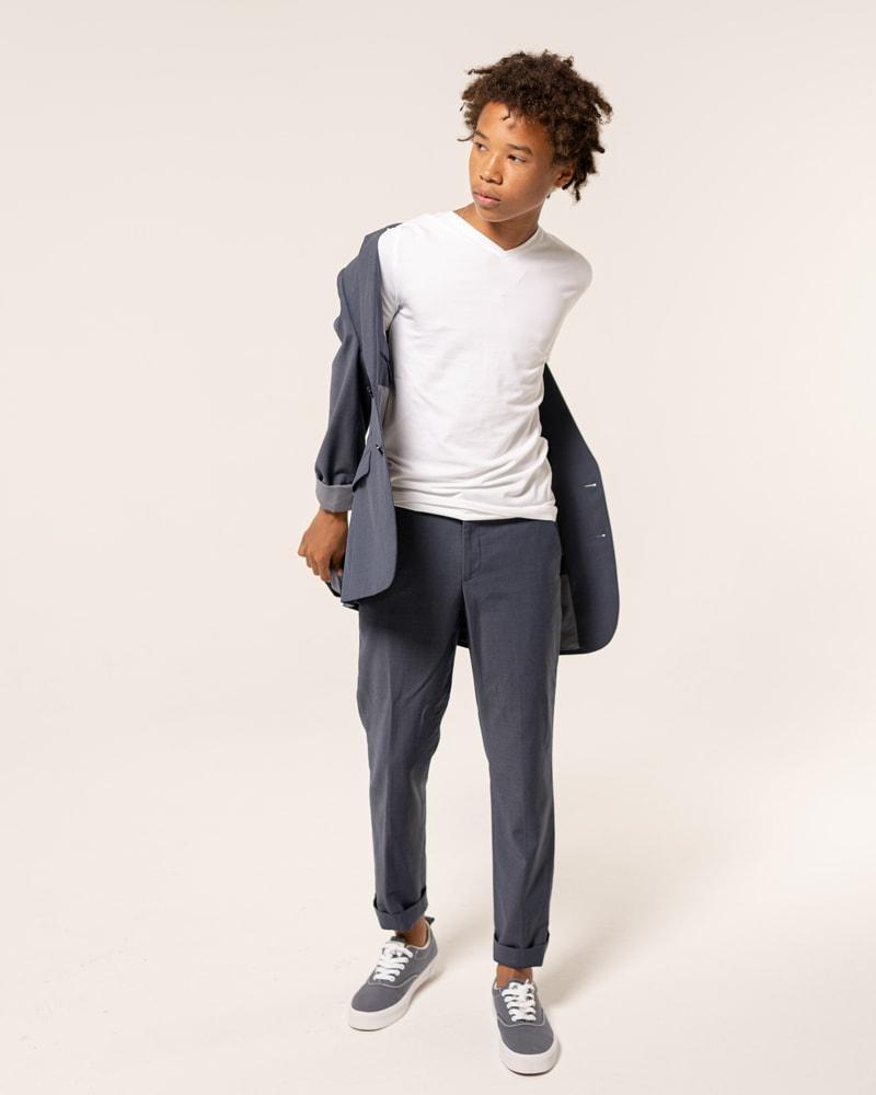 Denver Senior Photography, boy in white shirt and grey sport coat