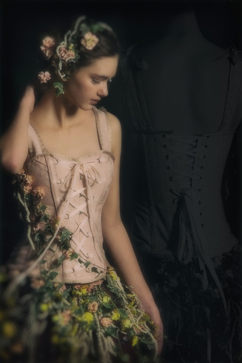 Denver Fine Art Photography, girl with flowers on her dress and in her hair