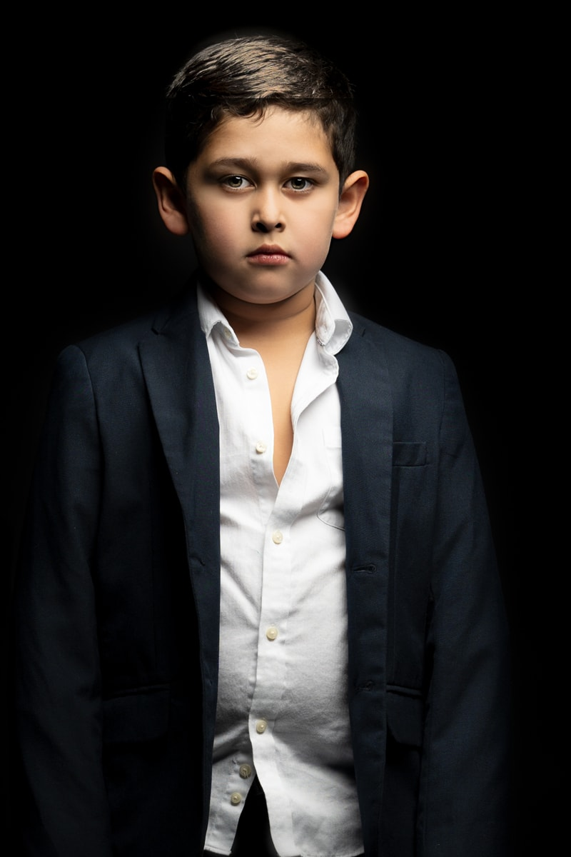 Denver Portrait Photography, boy in white button up and suit jacket