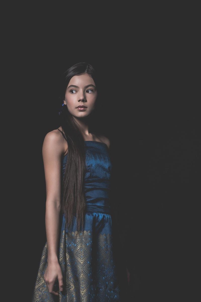 Denver Portrait Photography, girl in blue dress