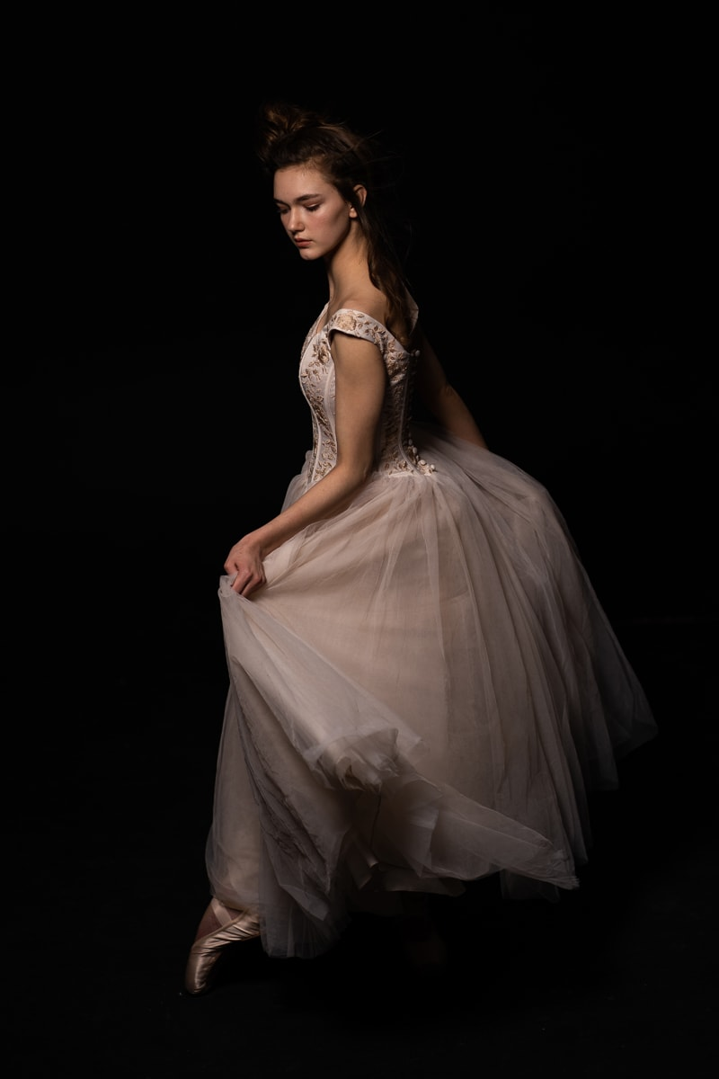 Denver Dance Photography, dancer in white dress