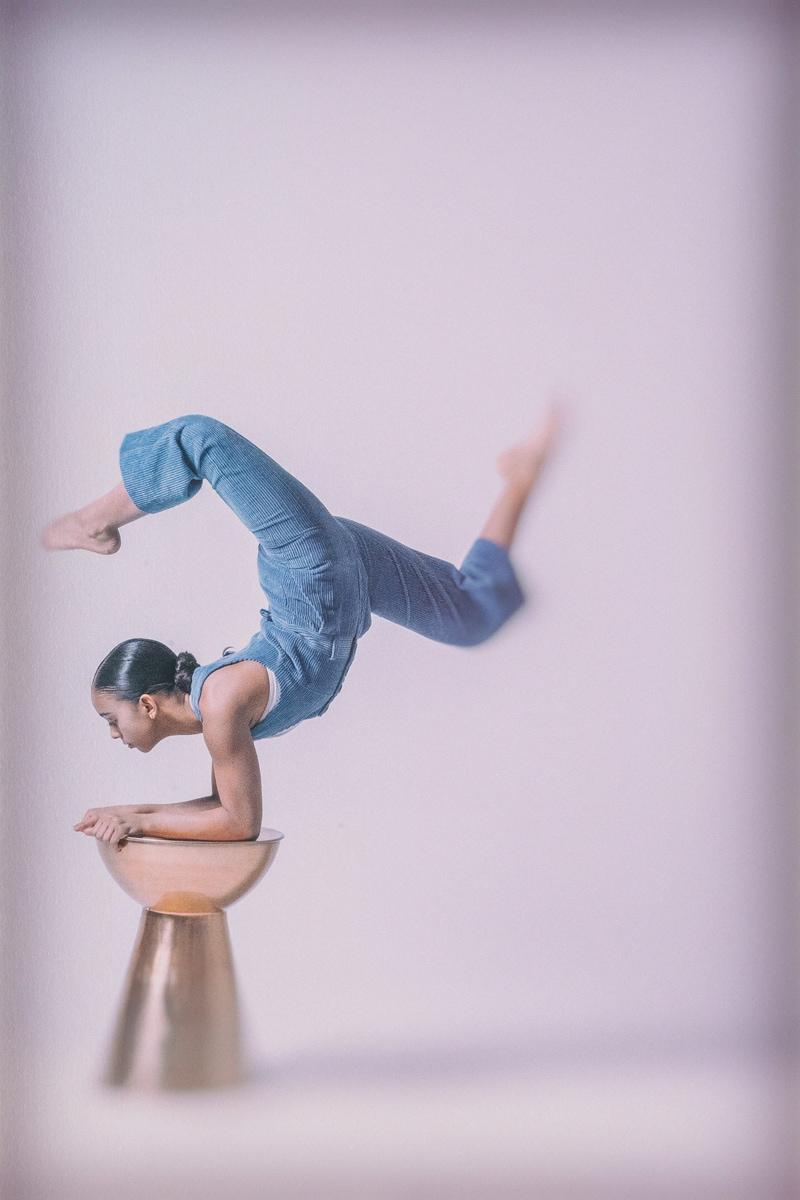 Denver Fine Art Photography, dancer balancing on a pedestal
