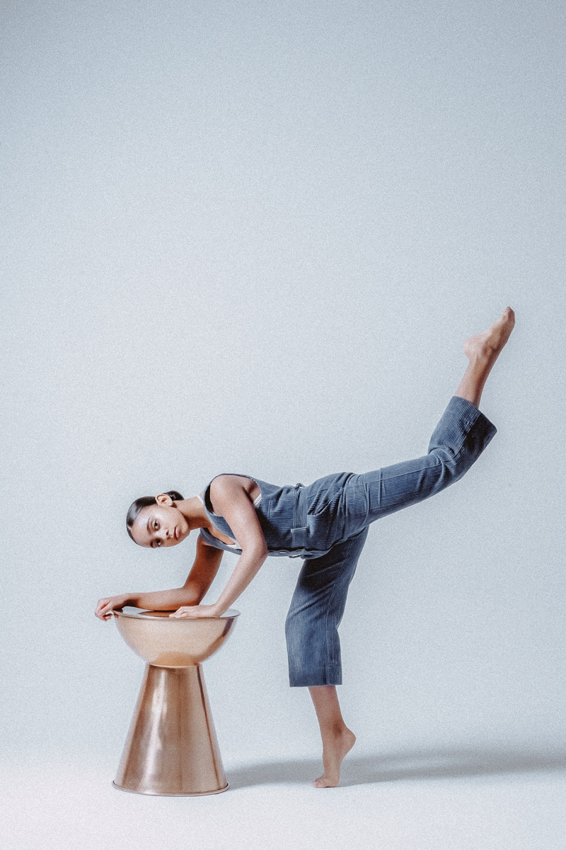Denver Dance Photography, dancer posing with leg up in the air