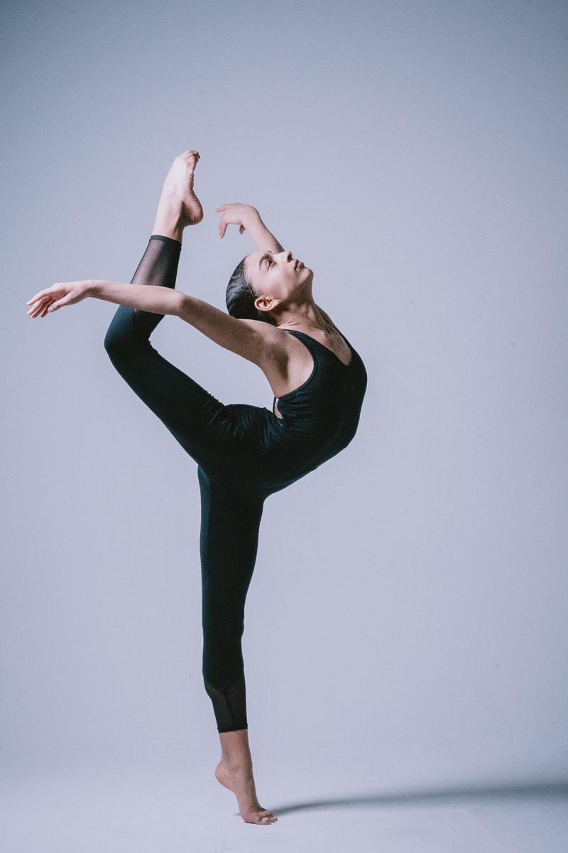 Denver Dance Photography, dancer posing on one leg