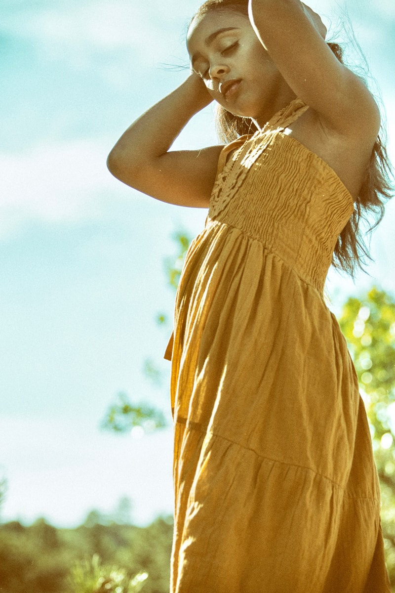 Denver Fine Art Photography, girl in yellow dress