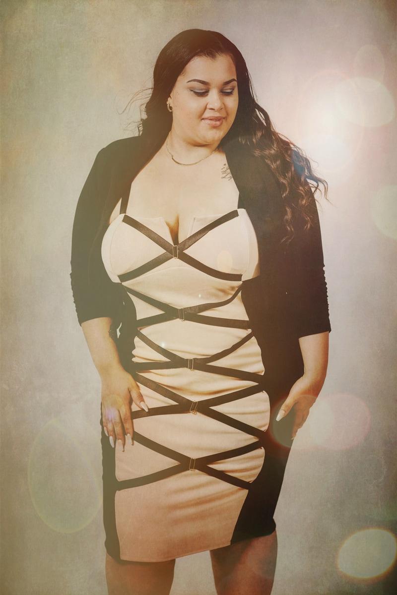 Denver Fine Art Photography, woman in cross strap dress