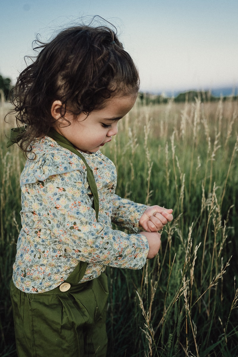 Denver Children's Photography, little girl playing with the tall grass