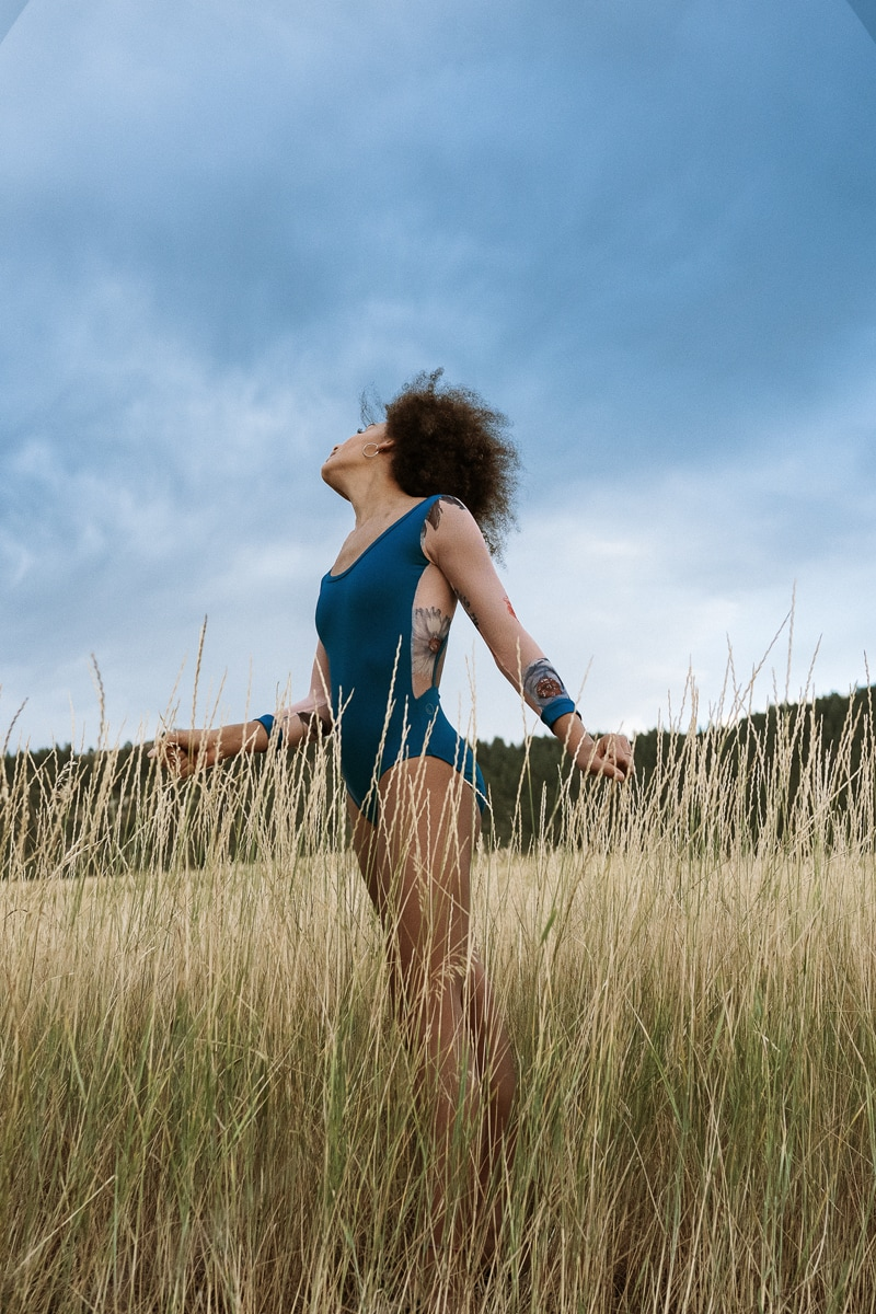 Denver Dance Photography, girl in tall grass